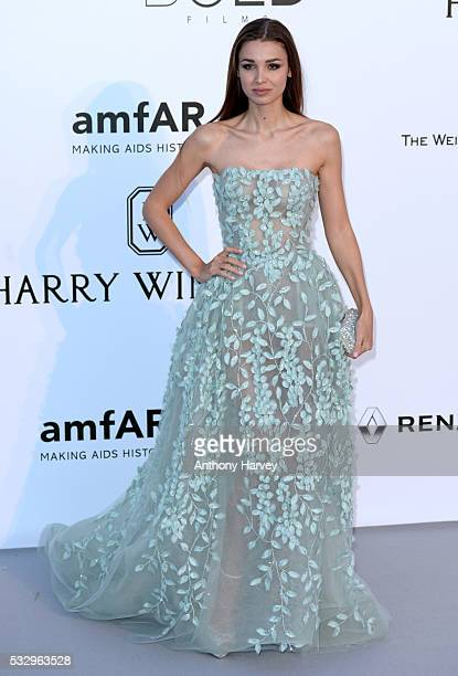 Lara Leito attends the amfAR's 23rd Cinema Against AIDS Gala at Hotel du CapEdenRoc on May 19 2016 in Cap d'Antibes France