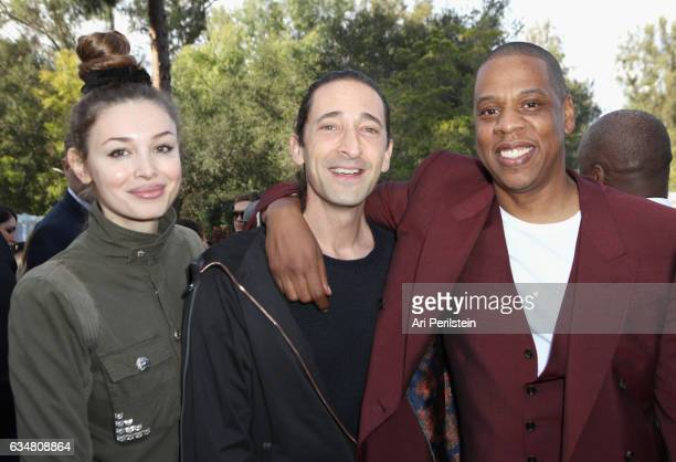 Lara Lieto actor Ari Perilstein and JayZ attend 2017 Roc Nation PreGrammy Brunch at Owlwood Estate on February 11 2017 in Los Angeles California