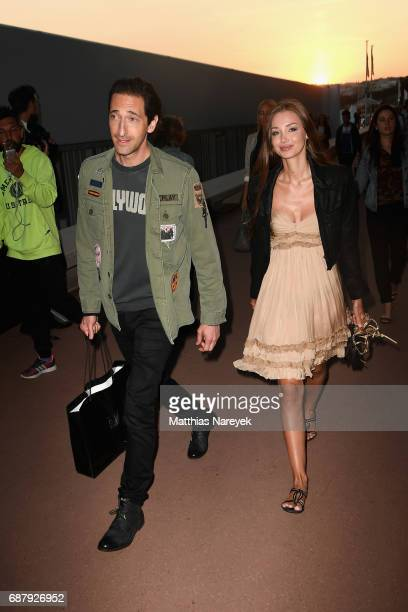 Lara Lieto and Adrien Brody are seen during the 70th annual Cannes Film Festival at on May 24 2017 in Cannes France