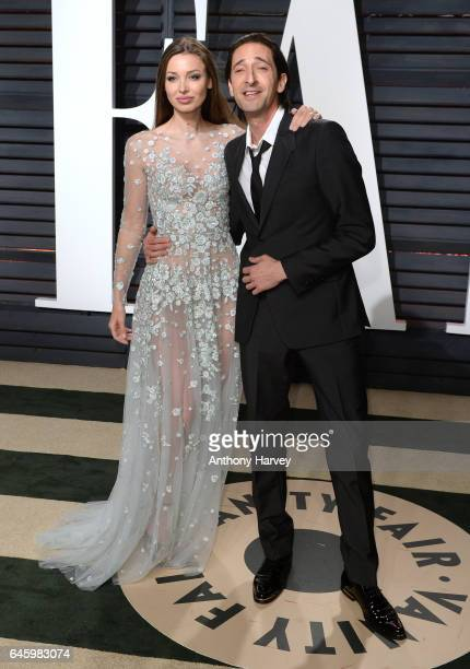 Lara Lieto and Adrien Brody attend the 2017 Vanity Fair Oscar Party hosted by Graydon Carter at Wallis Annenberg Center for the Performing Arts on...