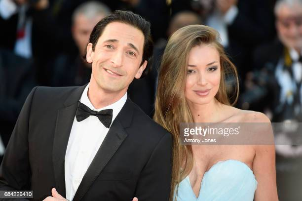 Lara Lieto and Adrien Brody attend the 'Ismael's Ghosts ' screening and Opening Gala during the 70th annual Cannes Film Festival at Palais des...