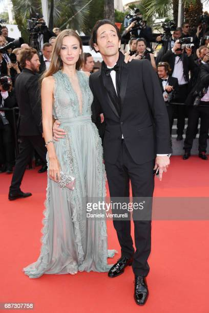 Lara Lieto and Adrien Brody attends the 70th Anniversary screening during the 70th annual Cannes Film Festival at Palais des Festivals on May 23 2017...