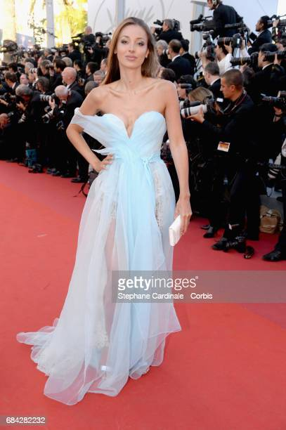 Lara Lieto attends the 'Ismael's Ghosts ' screening and Opening Gala during the 70th annual Cannes Film Festival at Palais des Festivals on May 17...