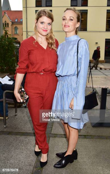 Lara Mandoki and Friederike Kempter attend the family and friends screening of the film 'Einsamkeit und Sex und Mitleid' on April 20 2017 in Berlin...