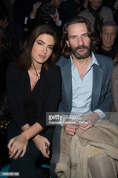 Lara Micheli and Frederic Beigbeder attend the ETAM show as part of the Paris Fashion Week Womenswear Fall/Winter 2015/2016 on March 3 2015 in Paris...