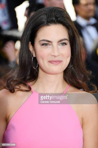 Lara Micheli attends the '120 Beats Per Minute ' screening during the 70th annual Cannes Film Festival at Palais des Festivals on May 20 2017 in...