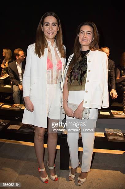 Lara Micheli Beigbeder and Victoria Olloqui attend the John Galliano show as part of the Paris Fashion Week Womenswear Fall/Winter 2015/2016 on March...