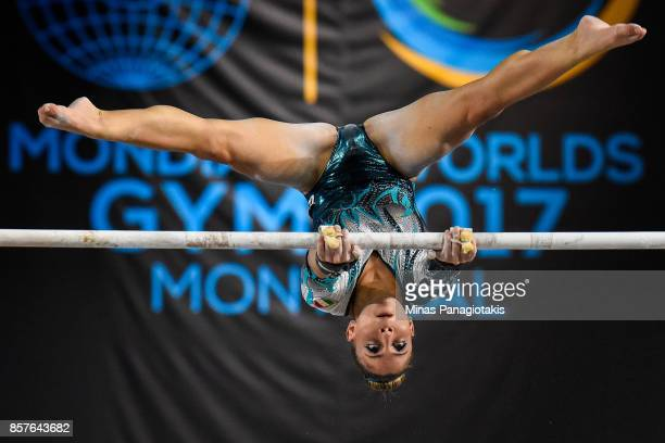 Lara Mori of Italy competes on the uneven bars during the qualification round of the Artistic Gymnastics World Championships on October 4 2017 at...