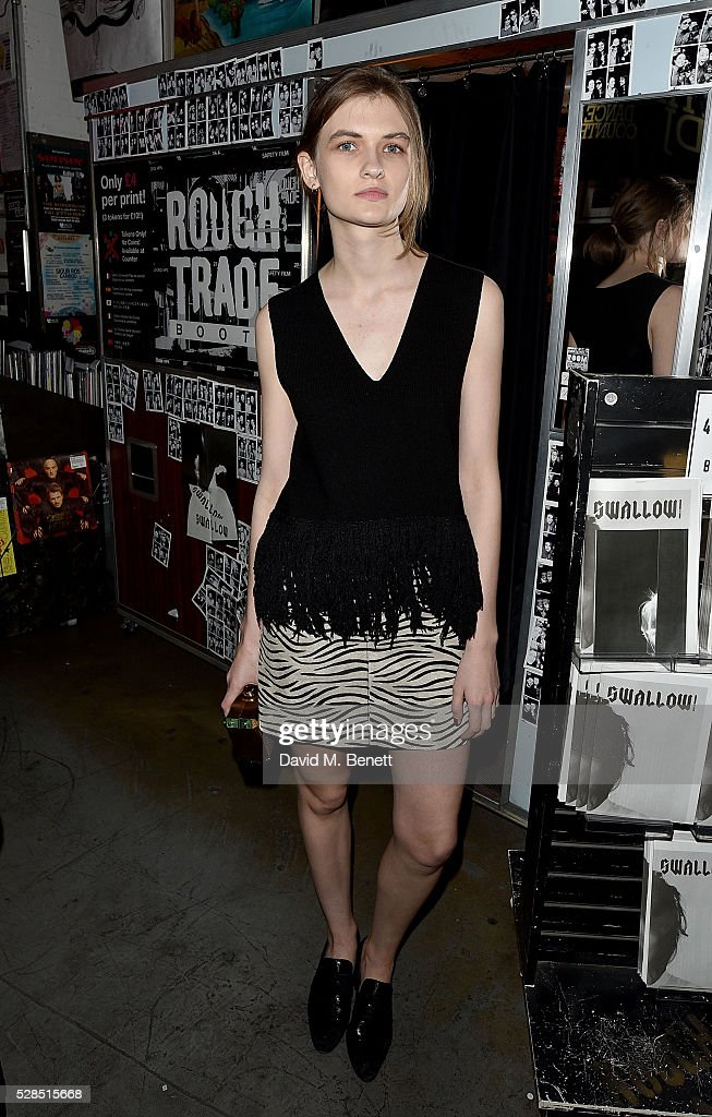 Lara Mullen attends to celebrate the launch of McQ Swallow Capsule collection at Rough Trade East on May 5, 2016 in London, England.