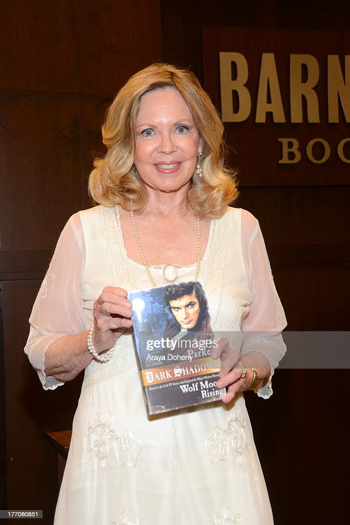Lara Parker signs copies of her new book 'Dark Shadows: Wolf Moon Rising' at Barnes & Noble bookstore at The Grove on August 20, 2013 in Los Angeles, California.