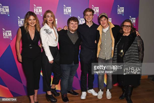 Lara Peake Alice Sanders Ethan Lawrence Abraham Lewis Alex Sharp and Joanna Scanlan attend a screening of 'How To Talk To Girls At Parties' during...