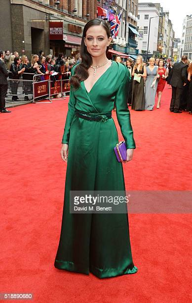 Lara Pulver arrives at The Olivier Awards with Mastercard at The Royal Opera House on April 3 2016 in London England