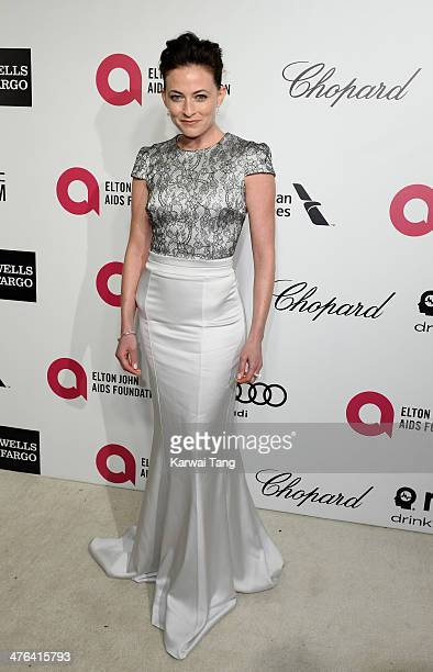 Lara Pulver arrives for the 22nd Annual Elton John AIDS Foundation's Oscar Viewing Party held at West Hollywood Park on March 2 2014 in West...