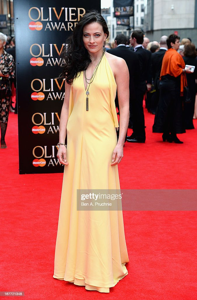 Lara Pulver attends The Laurence Olivier Awards at the Royal Opera House on April 28, 2013 in London, England.
