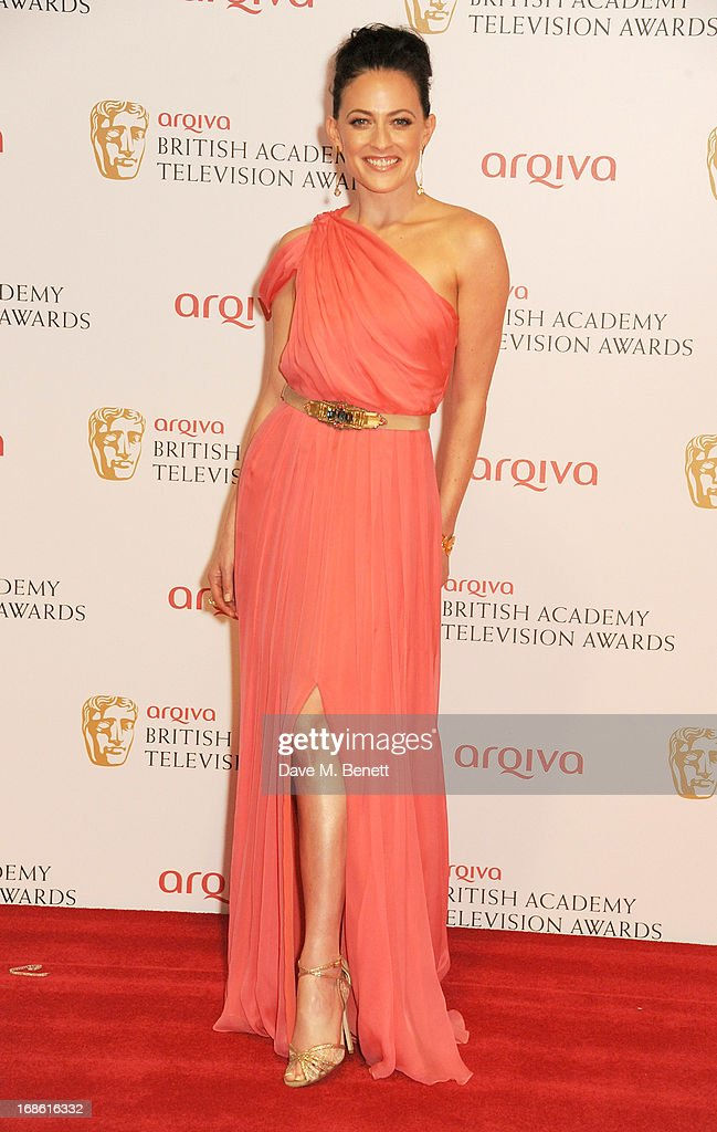 Lara Pulver poses in the press room at the Arqiva British Academy Television Awards 2013 at the Royal Festival Hall on May 12, 2013 in London, England.