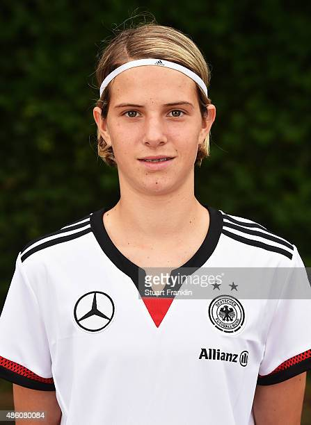 Lara Schmidt of Germany Under 16 Girls team poses for a photograph on August 31 2015 in Harrislee Germany