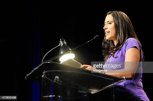 Lara Setrakian speaks during the NCAGC Reception And Award Banquet at Marriott Marques Hotel on May 79 2015 in Washington DC