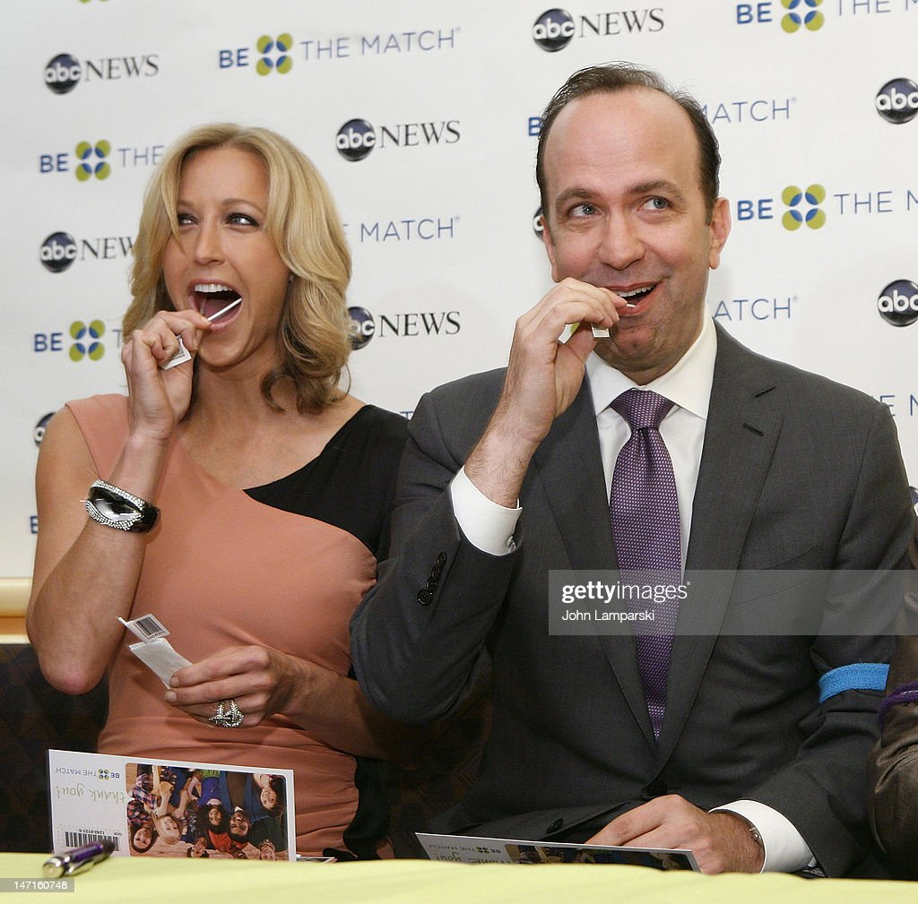 <a gi-track='captionPersonalityLinkClicked' href=/galleries/search?phrase=Lara+Spencer+-+Journalist&family=editorial&specificpeople=240321 ng-click='$event.stopPropagation()'>Lara Spencer</a> (L) and NBC News Prsident Ben Sherwood attend the ABC News Bone Marrow Drive at ABC Studios on June 26, 2012 in New York City.