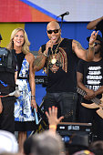 Lara Spencer and rapper Flo Rida attend ABC's 'Good Morning America' 2016 Summer Concert Series at SummerStage at Rumsey Playfield Central Park on...