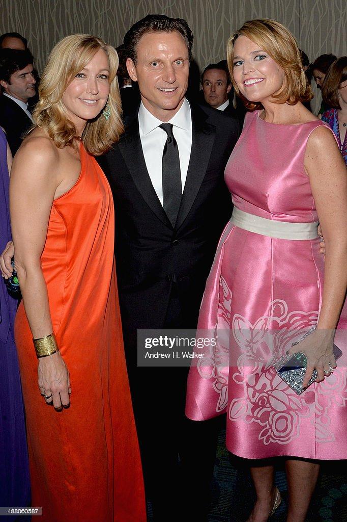 Lara Spencer Tony Goldwyn and Savannah Guthrie attend the Yahoo News/ABCNews PreWhite House Correspondents' dinner reception preparty at Washington...