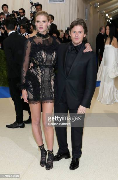 Lara Stone and Christopher Kane attend the 'Rei Kawakubo/Comme des Garcons Art Of The InBetween' Costume Institute Gala at Metropolitan Museum of Art...