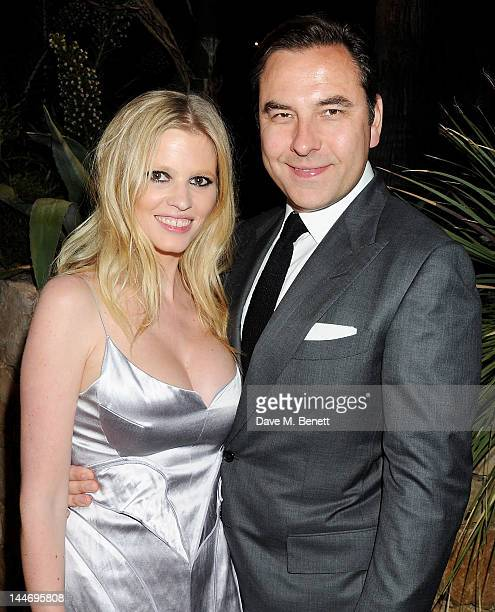 Lara Stone and David Walliams attend as The IFP Calvin Klein Collection euphoria Calvin Klein celebrate Women In Film during the 65th Cannes Film...
