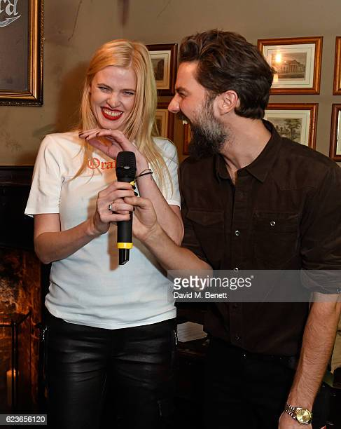 Lara Stone and Jack Guinness attend Frame Pub Quiz on November 16 2016 in London England