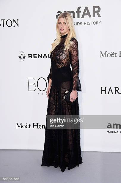 Lara Stone arrives at amfAR's 23rd Cinema Against AIDS Gala at Hotel du CapEdenRoc on May 19 2016 in Cap d'Antibes France