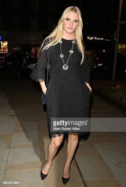 Lara Stone attending the Chanel Exhibition Party at the Saatchi Gallery on October 12 2015 in London England