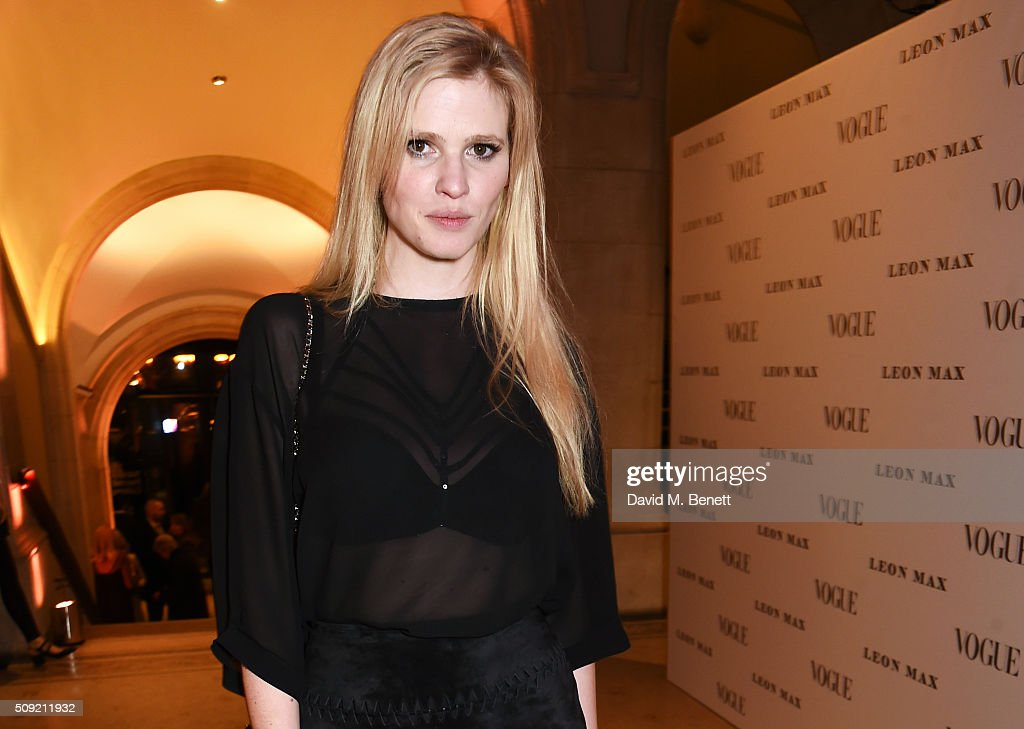<a gi-track='captionPersonalityLinkClicked' href=/galleries/search?phrase=Lara+Stone&family=editorial&specificpeople=4340962 ng-click='$event.stopPropagation()'>Lara Stone</a> attends a private view of 'Vogue 100: A Century of Style' hosted by Alexandra Shulman and Leon Max at the National Portrait Gallery on February 9, 2016 in London, England.