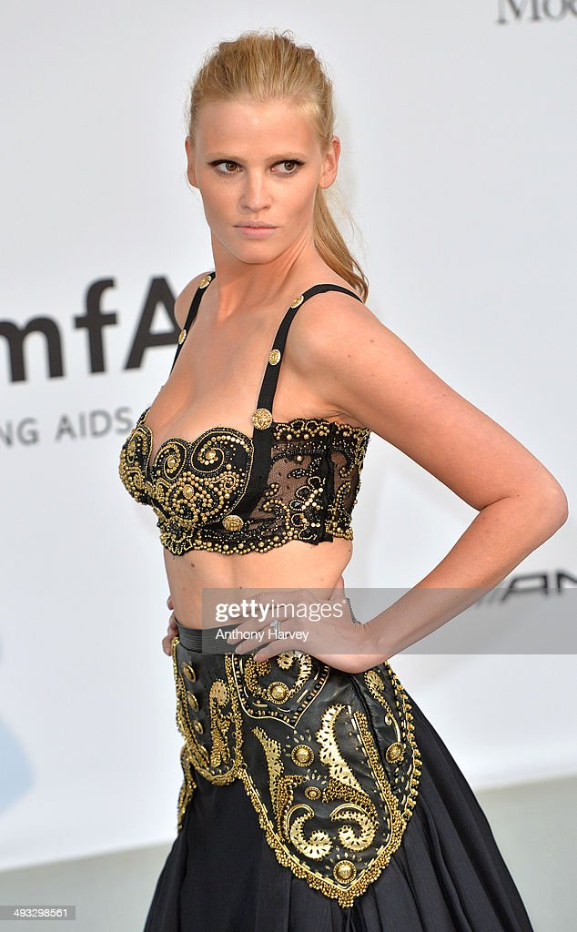 Lara Stone attends amfAR's 21st Cinema Against AIDS Gala, Presented By WORLDVIEW, BOLD FILMS, And BVLGARI at the 67th Annual Cannes Film Festival on May 22, 2014 in Cap d'Antibes, France.