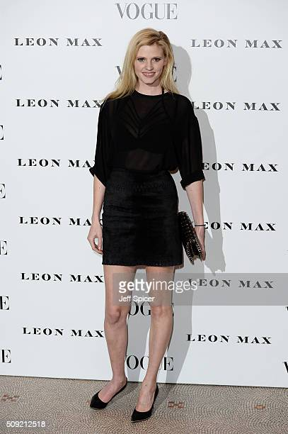 Lara Stone attends at Vogue 100 A Century Of Style at the National Portrait Gallery on February 9 2016 in London England