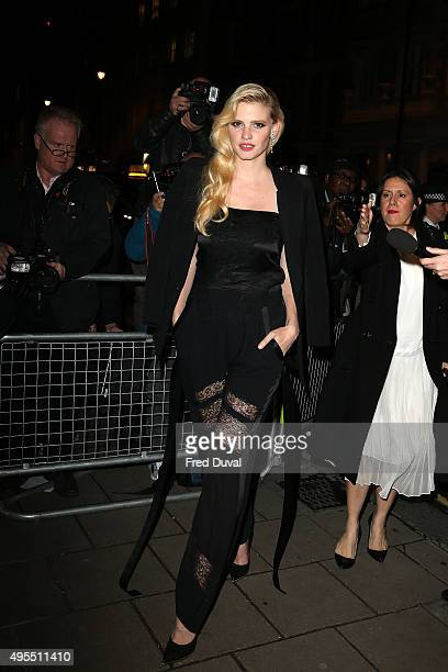 Lara Stone attends Harper's Bazaar Women of the Year Awards>> at Claridge's Hotel on November 3 2015 in London England