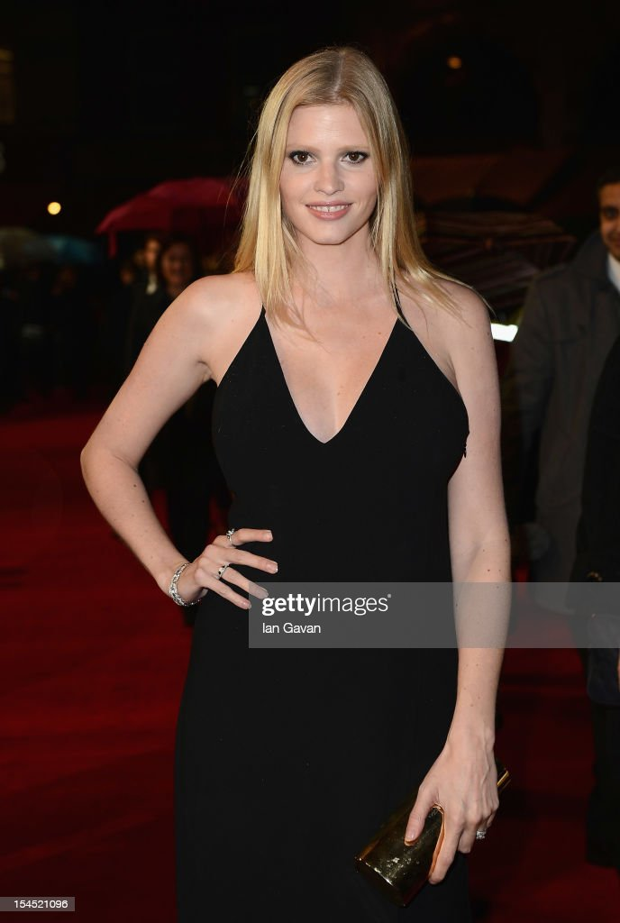Lara Stone attends the Closing Night Gala of 'Great Expectations' during the 56th BFI London Film Festival at Odeon Leicester Square on October 21, 2012 in London, England.