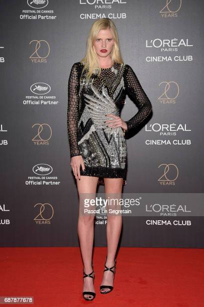 Lara Stone attends the Gala 20th Birthday Of L'Oreal In Cannes during the 70th annual Cannes Film Festival at Martinez Hotel on May 24 2017 in Cannes...