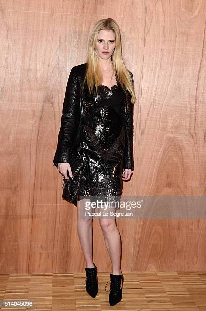 Lara Stone attends the Givenchy show as part of the Paris Fashion Week Womenswear Fall/Winter 2016/2017 on March 6 2016 in Paris France