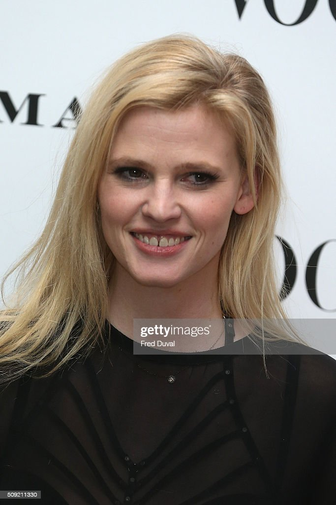<a gi-track='captionPersonalityLinkClicked' href=/galleries/search?phrase=Lara+Stone&family=editorial&specificpeople=4340962 ng-click='$event.stopPropagation()'>Lara Stone</a> attends the opening of Vogue100 : A century of Style at National Portrait Gallery on February 9, 2016 in London, England.