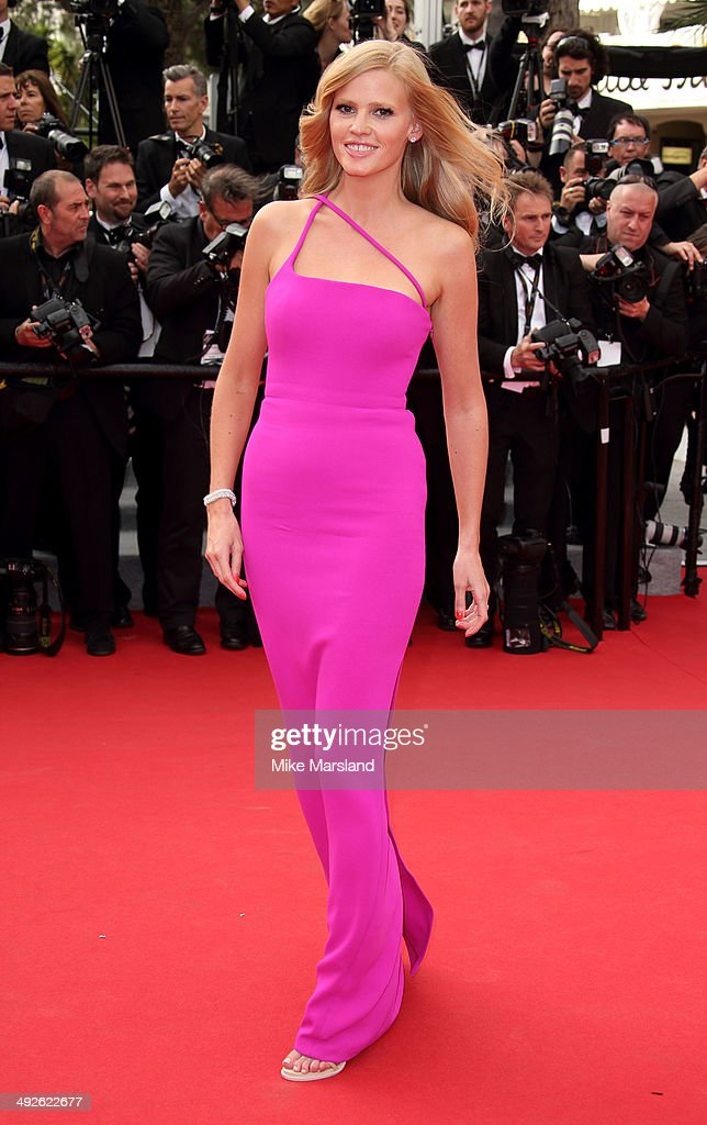 <a gi-track='captionPersonalityLinkClicked' href=/galleries/search?phrase=Lara+Stone&family=editorial&specificpeople=4340962 ng-click='$event.stopPropagation()'>Lara Stone</a> attends 'The Search' Premiere at the 67th Annual Cannes Film Festival on May 21, 2014 in Cannes, France.
