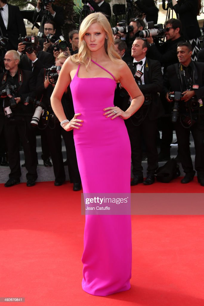 <a gi-track='captionPersonalityLinkClicked' href=/galleries/search?phrase=Lara+Stone&family=editorial&specificpeople=4340962 ng-click='$event.stopPropagation()'>Lara Stone</a> attends 'The Search' premiere during the 67th Annual Cannes Film Festival on May 21, 2014 in Cannes, France.