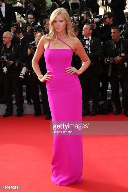 Lara Stone attends 'The Search' premiere during the 67th Annual Cannes Film Festival on May 21 2014 in Cannes France