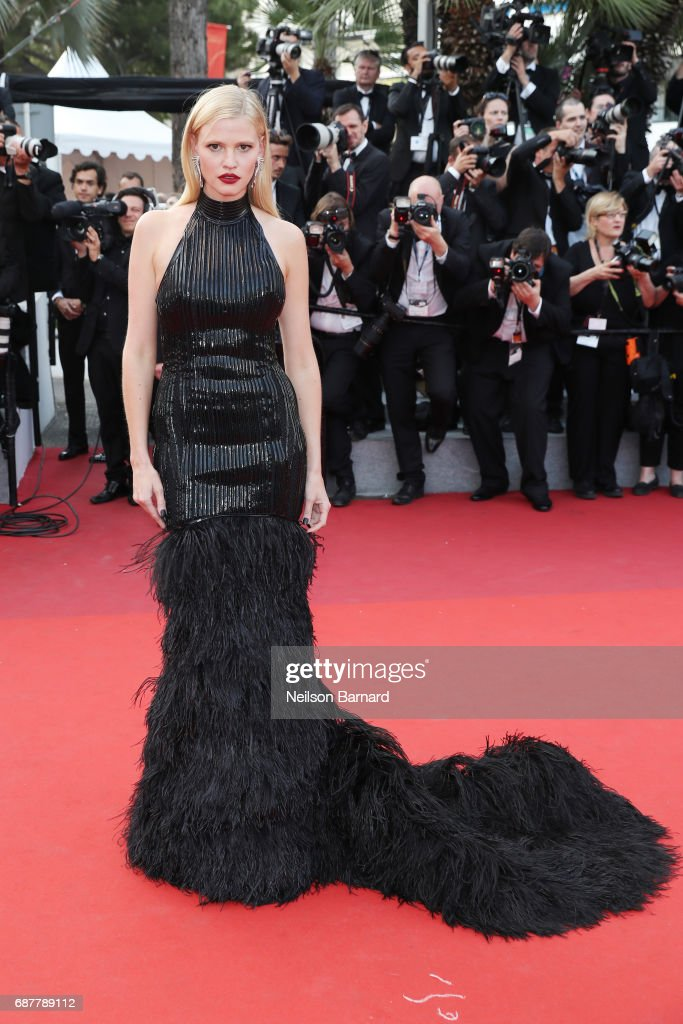 Lara Stone attends the 'The Beguiled' screening during the 70th annual Cannes Film Festival at Palais des Festivals on May 24, 2017 in Cannes, France.