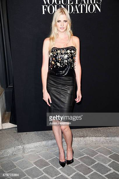 Lara Stone attends the Vogue Paris Foundation Gala at Palais Galliera on July 6 2015 in Paris France