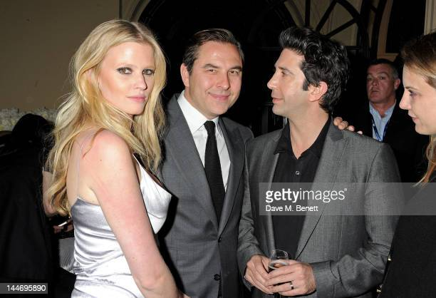 Lara Stone David Walliams and David Schwimmer attend as The IFP Calvin Klein Collection euphoria Calvin Klein celebrate Women In Film during the 65th...