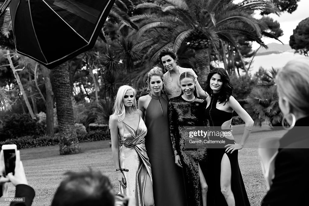 Lara Stone Doutzen Kroes Eva Longoria Natasha Poly and Isabeli Fontana attend amfAR's 22nd Cinema Against AIDS Gala Presented By Bold Films And Harry...