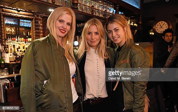 Lara Stone Marissa Montgomery and India Standing attend Frame Pub Quiz on November 16 2016 in London England