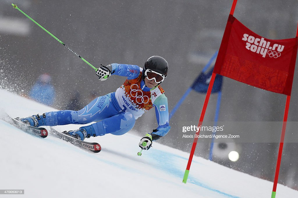 Lara Tina Maze of Slovenia wins the gold medal during the Alpine Skiing Women's Giant Slalom at the Sochi 2014 Winter Olympic Games at Rosa Khutor Alpine Centre on February 18, 2014 in Sochi, Russia.