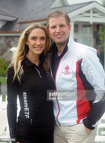 Lara Trump and Eric Trump attend the 10th Annual Eric Trump Foundation Golf Invitational at Trump National Golf Club Westchester on September 19 2016...