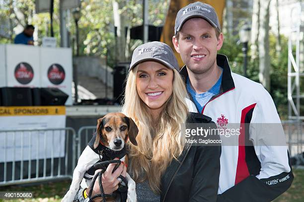 Lara Trump and Eric Trump attend the Elvis Trumps Cancer Walk Benefiting St Jude Children's Research Hospital at Cadman Plaza on September 26 2015 in...