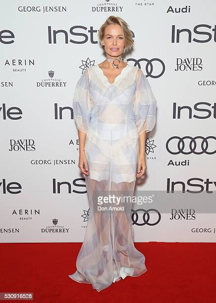 Lara Worthington arrives ahead InStyle and Audi Women of Style Awards at The Star on May 12 2016 in Sydney Australia