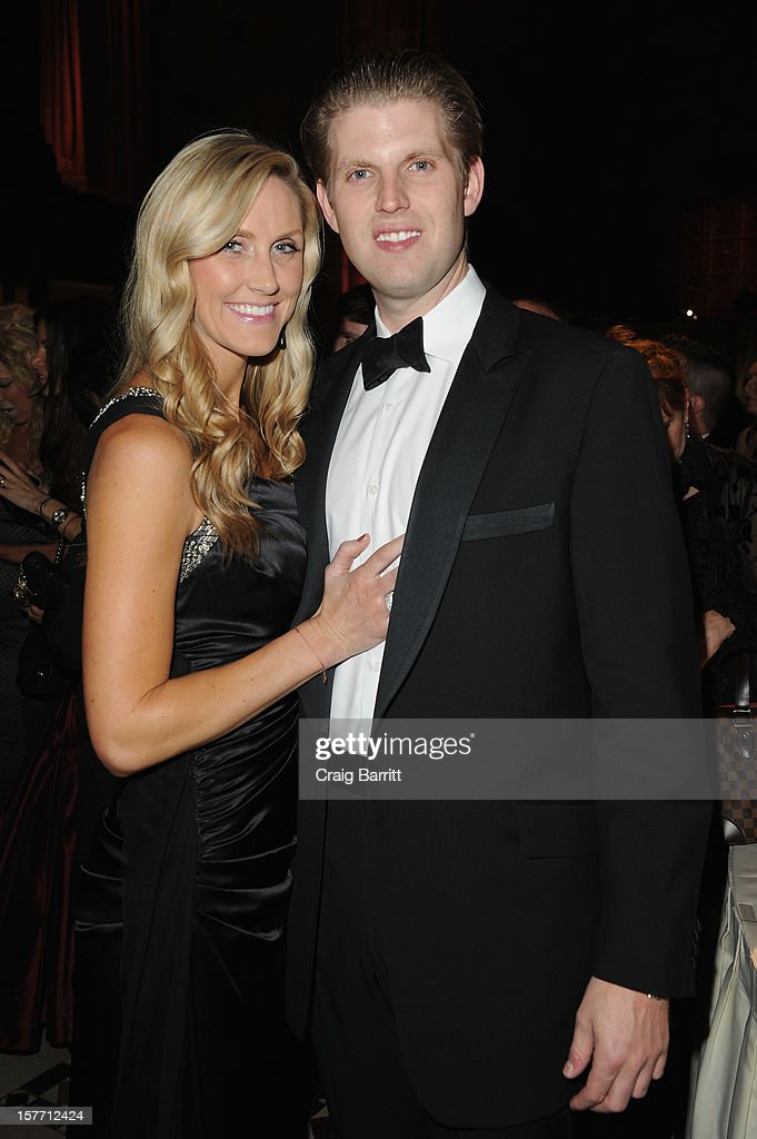 Lara Yunaska and Eric Trump attend European School Of Economics Foundation Vision And Reality Awards on December 5, 2012 in New York City.